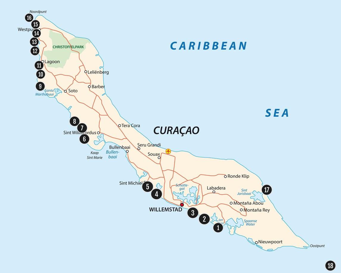 Top 18 stranden van Curacao - de mooiste en de meest populaire